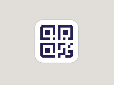 Simple QR code. Vector QR code icon
