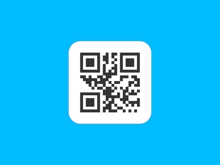 QR code icon. Vector illustration