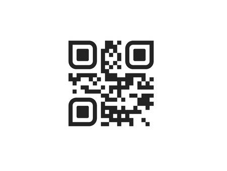 QR-code pictogram. Vector QR-code op wit wordt geïsoleerd