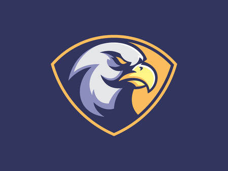 Eagle mascot design for logo. Sports branding. Eagle head badge. Sport logo vector template