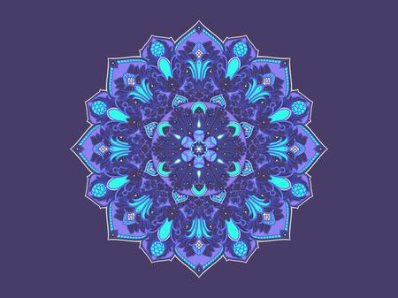 Round Oriental pattern. Flower Ornamental Mandala. Vecor Mandala 向量圖像