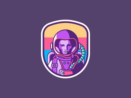 Spaceman vectorillustratie Stockfoto - 89859935