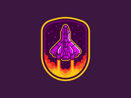 Lancering embleem van de spaceshuttle