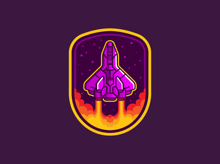 Space shuttle launch emblem