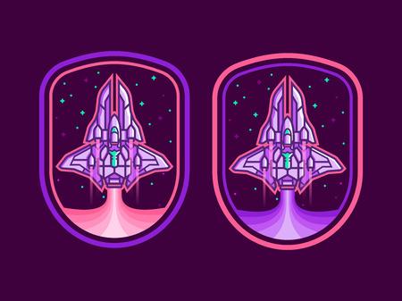 Ruimteschip embleem vector
