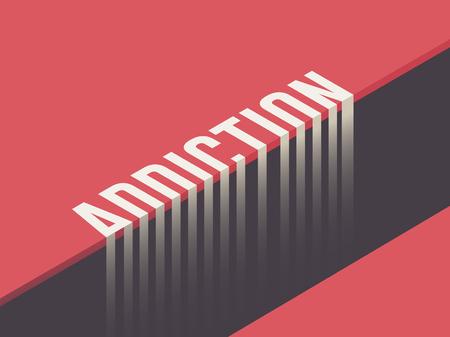 Addiction concept vector illustration