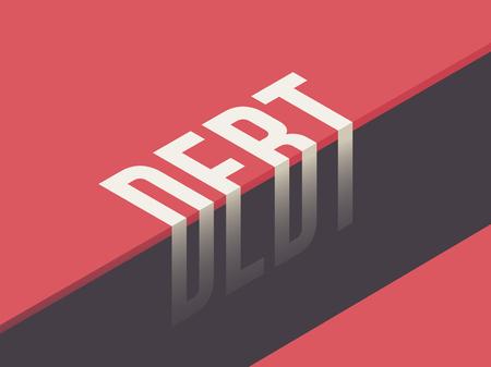 Debt concept vector illustration