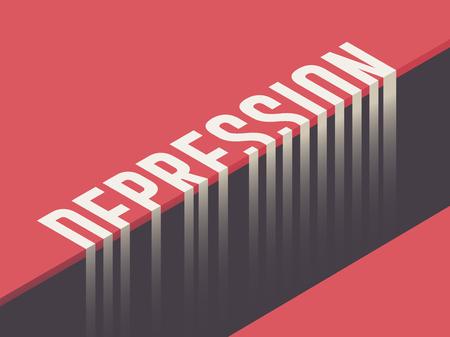 Depressie concept vector illustratie