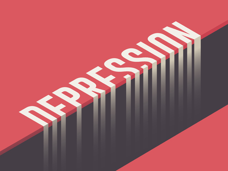 Depression concept vector illustration
