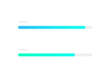 Progress loading bar. Vector progress upload indicator bar 向量圖像