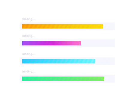 Progress upload indicator bar. Vector process indicator