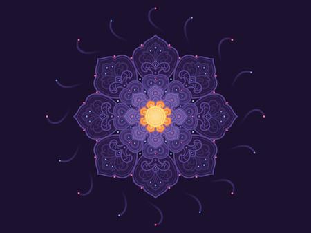 Mandala bloem. Vector oosters patroon Stock Illustratie