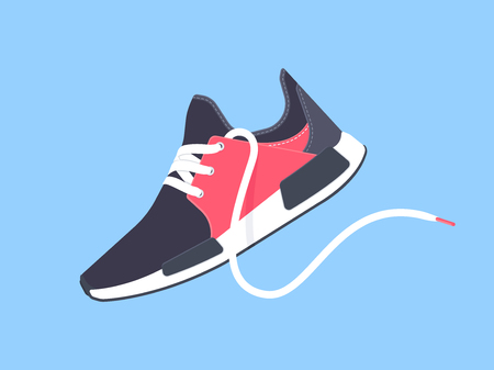 Sneakers. Sport shoes. Shoes for running. Vector illustration Stock Illustratie