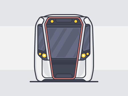 Subway Train Vector 版權商用圖片 - 90041131