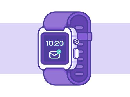 Smart Watch Vector Illustration Stock Illustratie