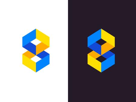 Abstract geometrisch embleem. Vector