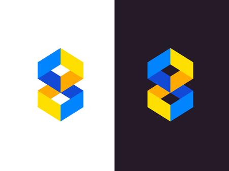 Abstract geometric logo. Vector