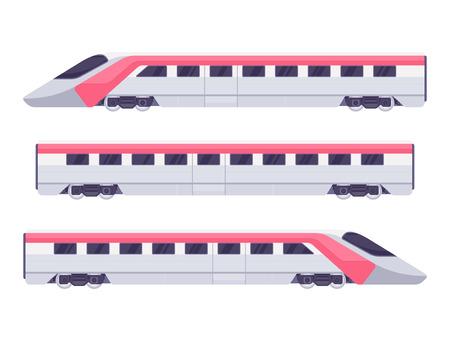 Passenger express train. Subway train. Vector illustration