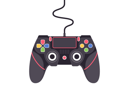 Video game controller. Gamepad vector illustration