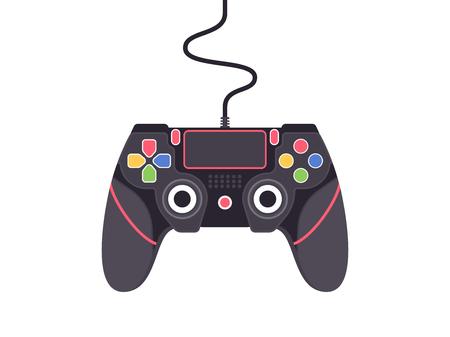 Video game controller. Gamepad vector illustration