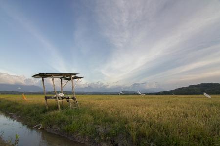 A hut or being called SULAP in local language at Kampung Sangkir, Kota Belud, Sabah, Malaysia