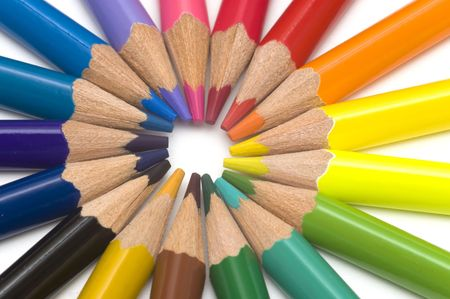 round of colorful pencils Stock Photo - 3181277