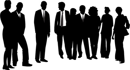 vector image of people group Vector