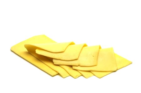 threaded: cheese on white background