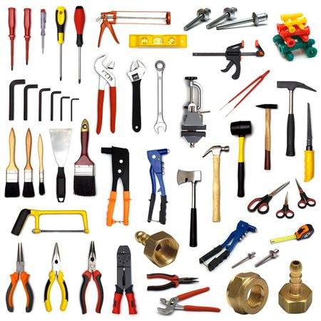 large page of tools on white background Stock Photo - 3222437