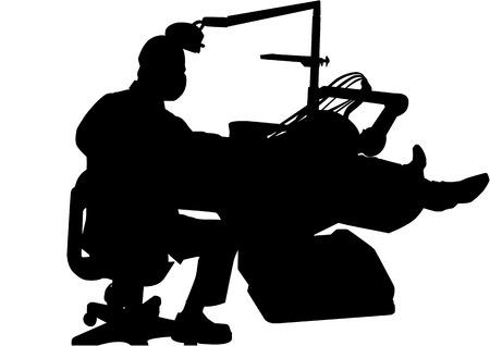 medico: vector image of dentist at work Illustration
