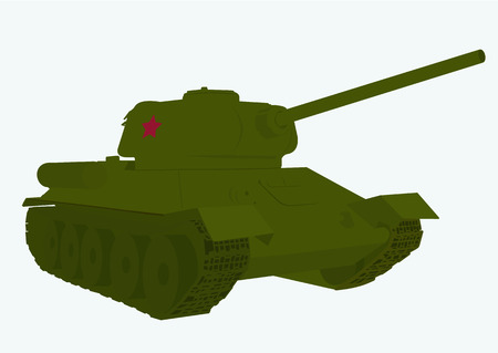 vector image of legendary Russian tank of the second world war T 34 Illustration