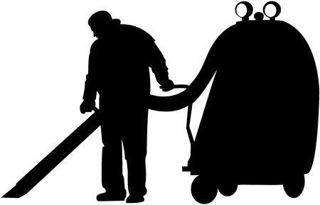 caretaker: vector image of cleaner at work Illustration