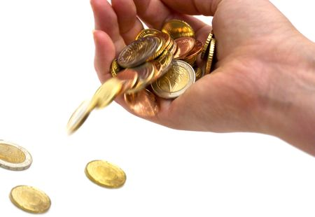 eu: eu money on white background Stock Photo