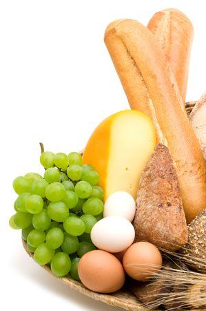 food on white background photo