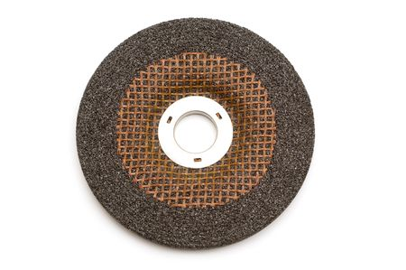 abrasive: abrasive disk on white background