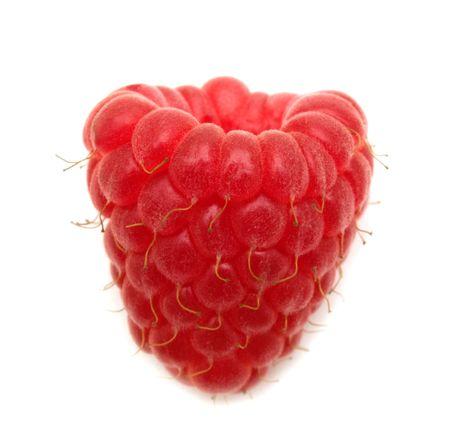 fresh raspberry on white background