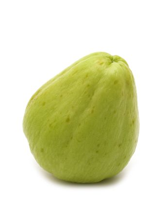 chayote: fresh chayote on white background