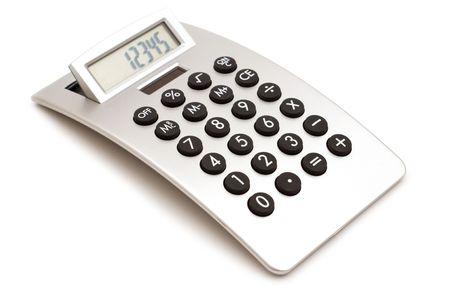 白の背景に現代的な電卓 写真素材