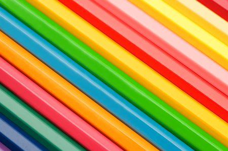 カラフルな鉛筆の背景 写真素材