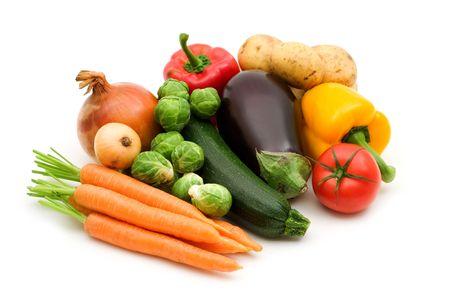 fresh vegetables on white background Stock Photo - 3652796