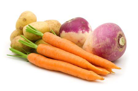 fresh vegetables on white background Stock Photo - 3652794