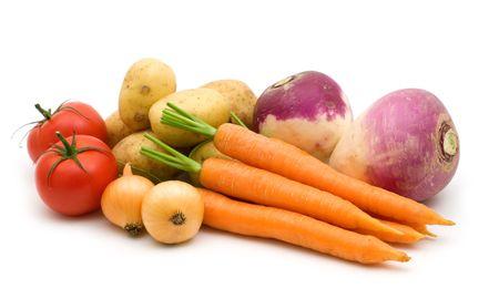 fresh vegetables on white background Stock Photo - 3652791