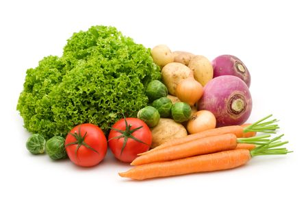 fresh vegetables on white background Stock Photo - 3652801