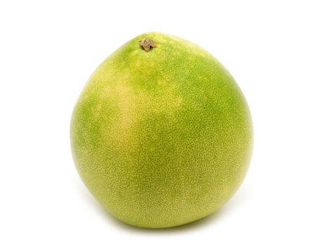 freshest: single pomelo on white background Stock Photo