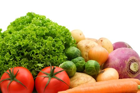 fresh vegetables on white background Stock Photo - 3687148