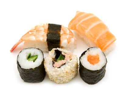 tekka: sushi on white background Stock Photo
