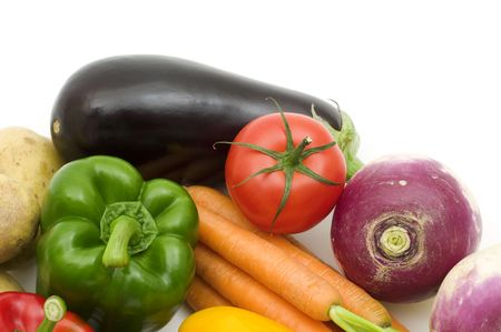 fresh vegetables on white background Stock Photo - 3957401