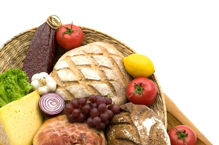 tasty food on white background Stock Photo - 4052386