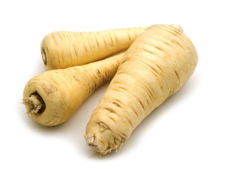 three root on white background Stock Photo