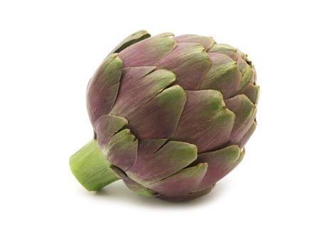 fresh artichoke on white background Stock Photo